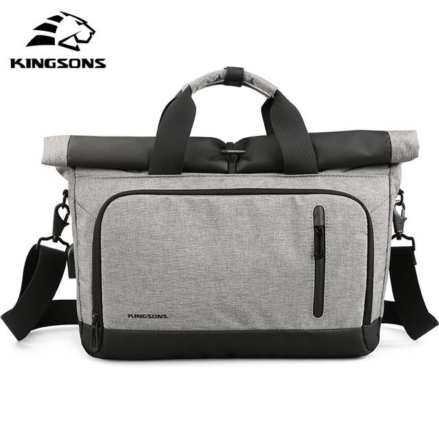 22017cd8a9 Kingsons 14 Pouce Sac D'ordinateur Portable Externe USB Charge Ordinateur  Sacs Étanche Portable Tablet