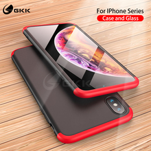 GKK Original Case for Apple iPhone X XS Max XR 360 Full Protection Anti-knock 3 in 1 Hard Matte 7 8 Plus Cover
