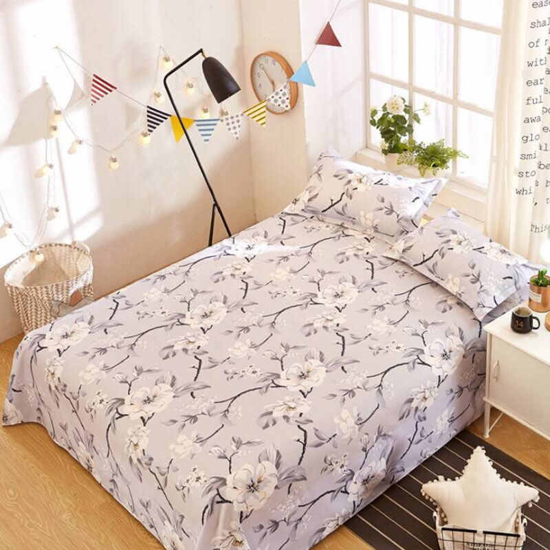 Bedding Sheet Home textile Floral Printed Fitted Sheets Polyester Mattress Cover Bed Linens Bed Sheet with For Double/King Bed