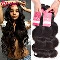 Top 8A Indian Virgin Hair Body Wave 3 Bundle Deals Raw Indian Hair Indian Body Wave Human Hair Bundles Indian Wavy Virgin Hair