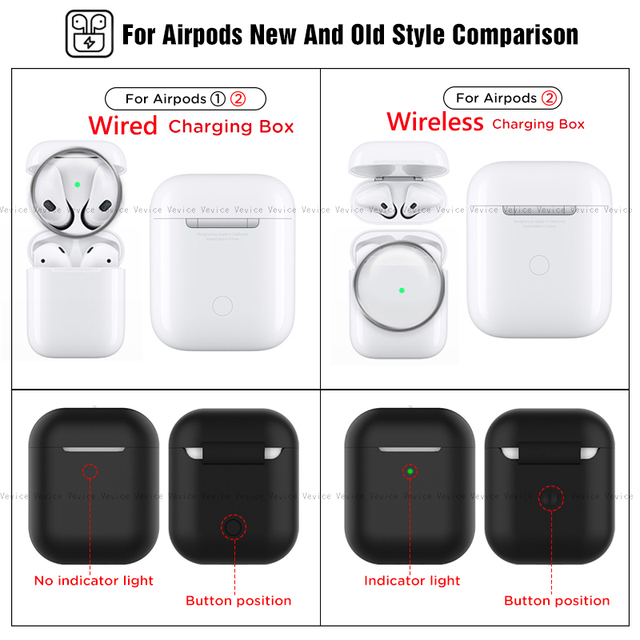 Silicone Cases for Airpods 2nd Luxury Protective Earphone Cover Case for Apple airpods2 Air pods