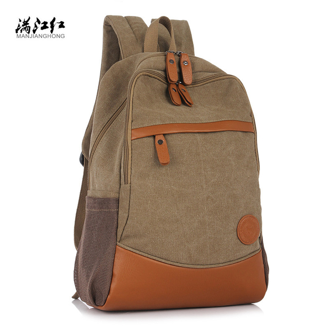 Manjh Fashion High Quality Canvas Women S Backpack Personality Casual Computer Bag Wear Resisting School For Ager M055 In Backpacks From
