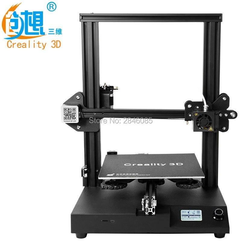Nova Impressora Criatividade CR-20 3D Retomar Impressão MK-10 V2.1 Atualização Extrusora 220X220X250mm