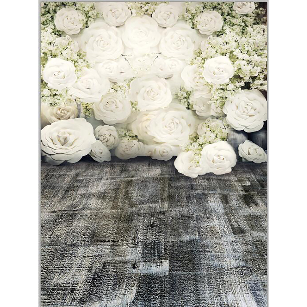 Allenjoy Photography Backdrop White Paper Flowers Wall Wedding Gray