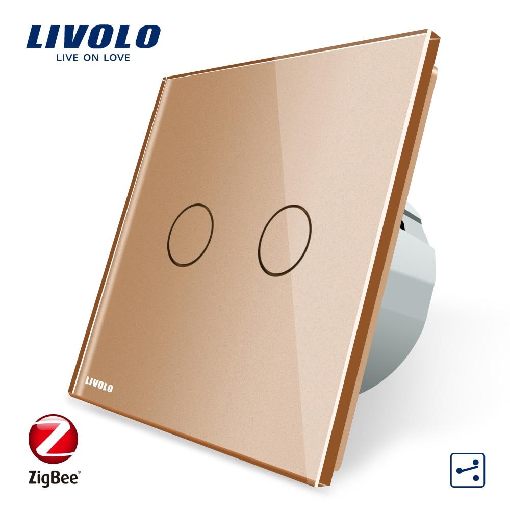Image 4 - Livolo universal Wifi smart Wireless Intelligence App,wifi Wall Switches ,cross,2ways,Work ZigBee Switch,google home,echo ,alexa-in Switches from Lights & Lighting
