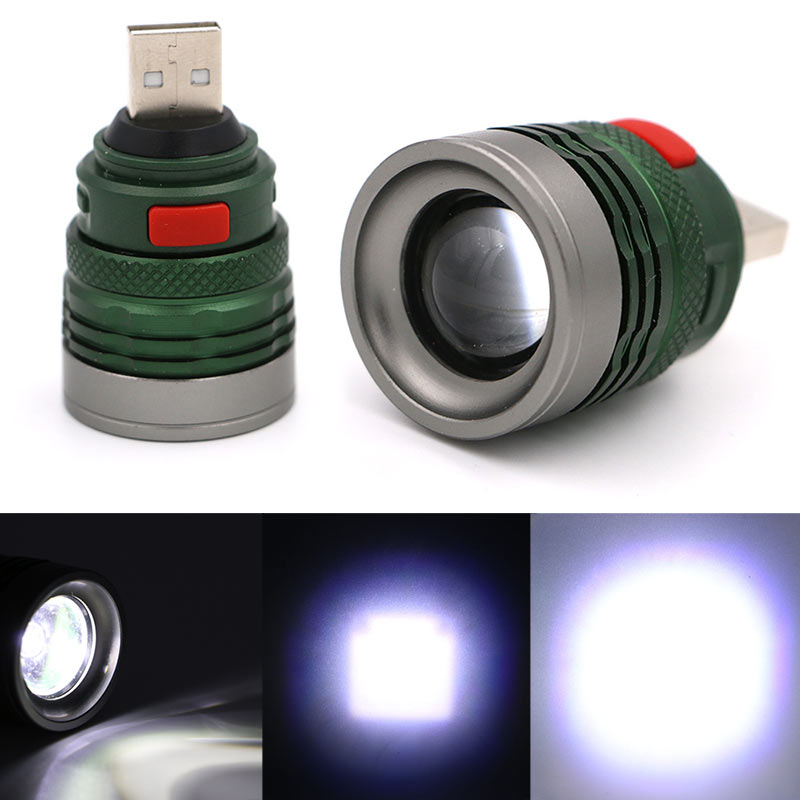 3 Mode Mini Tactical USB Flash Light Torch Zoom Powerful LED Flashlight Outdoor Travel Lamp CLH@8 3 mode tactical flash light torch mini zoomable rechargeable powerful usb led flashlight pocket lamp for hunting
