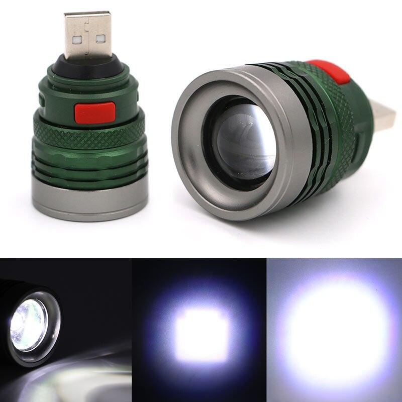 Lanternas e Lanternas 3 modo mini usb tático Cor : Verde