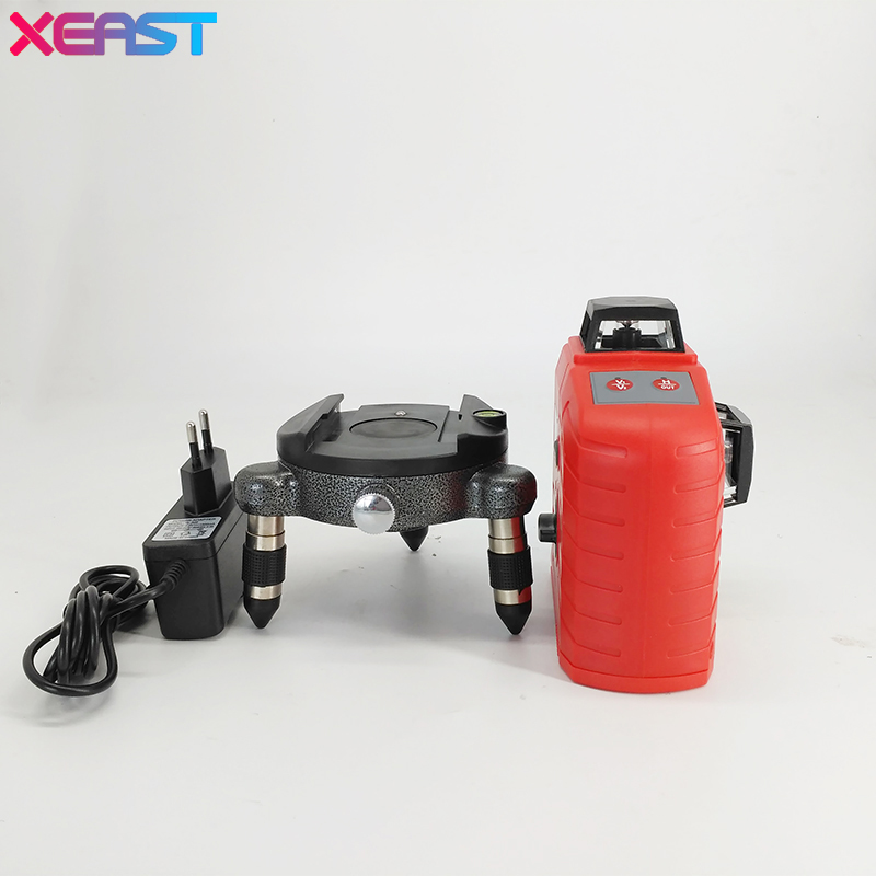 XEAST XE-65D 12 Line 3D laser level 360 Vertical And Horizontal 3D Laser Level Self-leveling Red Beam xeast 12 line laser level 360 vertical and horizontal self leveling cross line 3d laser level red beam better than fukuda