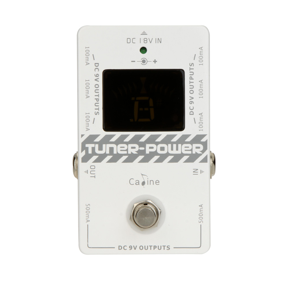 Caline CP 09 2 in 1 Tuner Power Supply Ture Bypass for DC 9V Electric Guitar