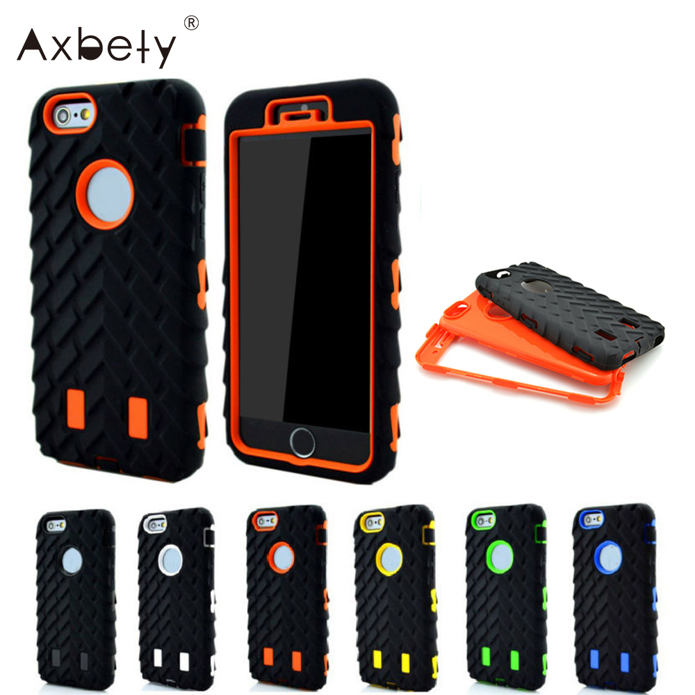 Coque For iPhone 6 Case Tire Dual Layer For Apple iphone 6s Case TPU Hard Plastic & Silicone Heavy Duty Armor For iPhone6S Cover