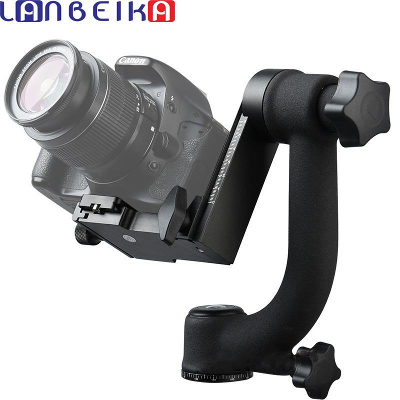 LANBEIKA BK-45 Professional Panoramic 360 Degree Gimbal Tripod Head 1/4 Screw For DSLR Camera Telephoto Lens micro camera compact telephoto camera bag black olive