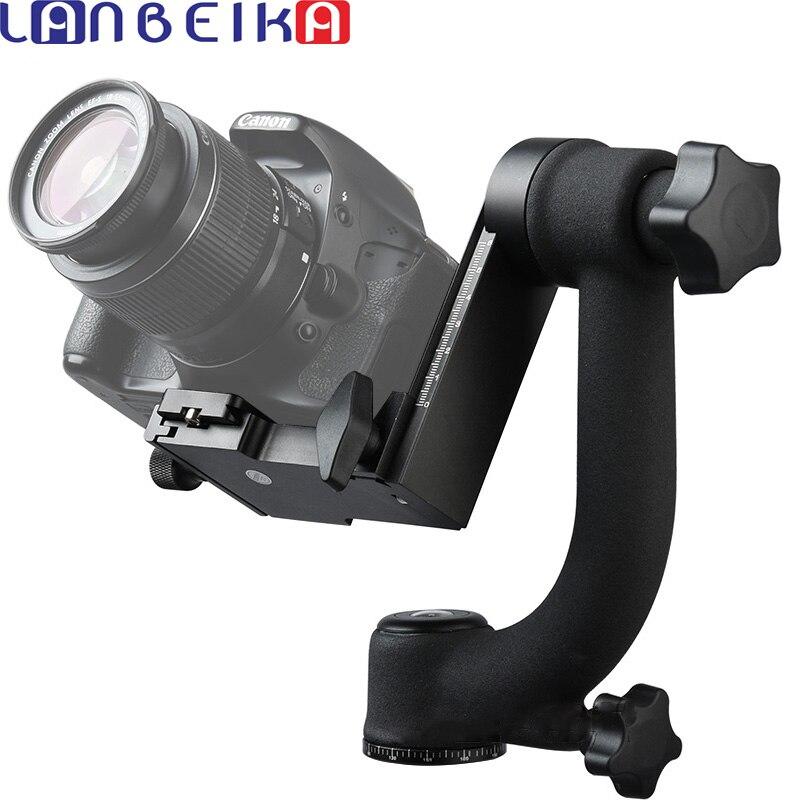 LANBEIKA BK-45 professionnel panoramique 360 degrés cardan trépied tête 1/4