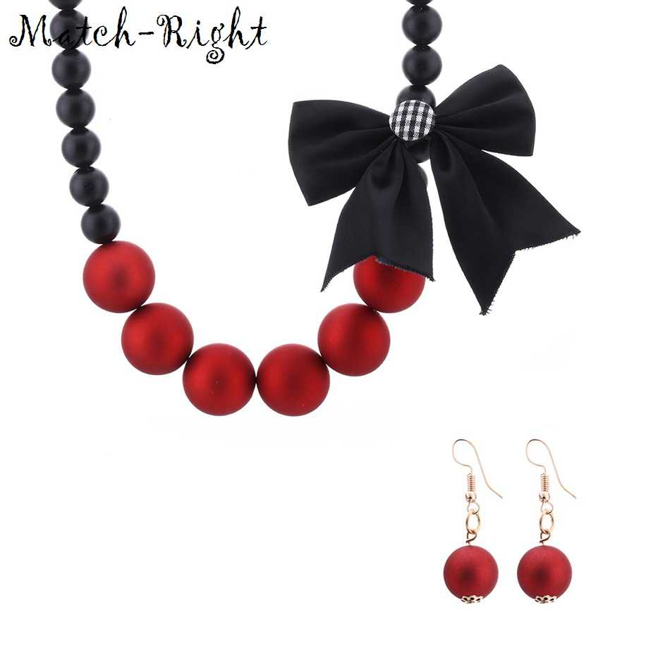 Match-Right Necklace Simulated Pearl Statement Necklaces Trendy Jewelry Necklace Women with Fabric Tie Accessories SP213