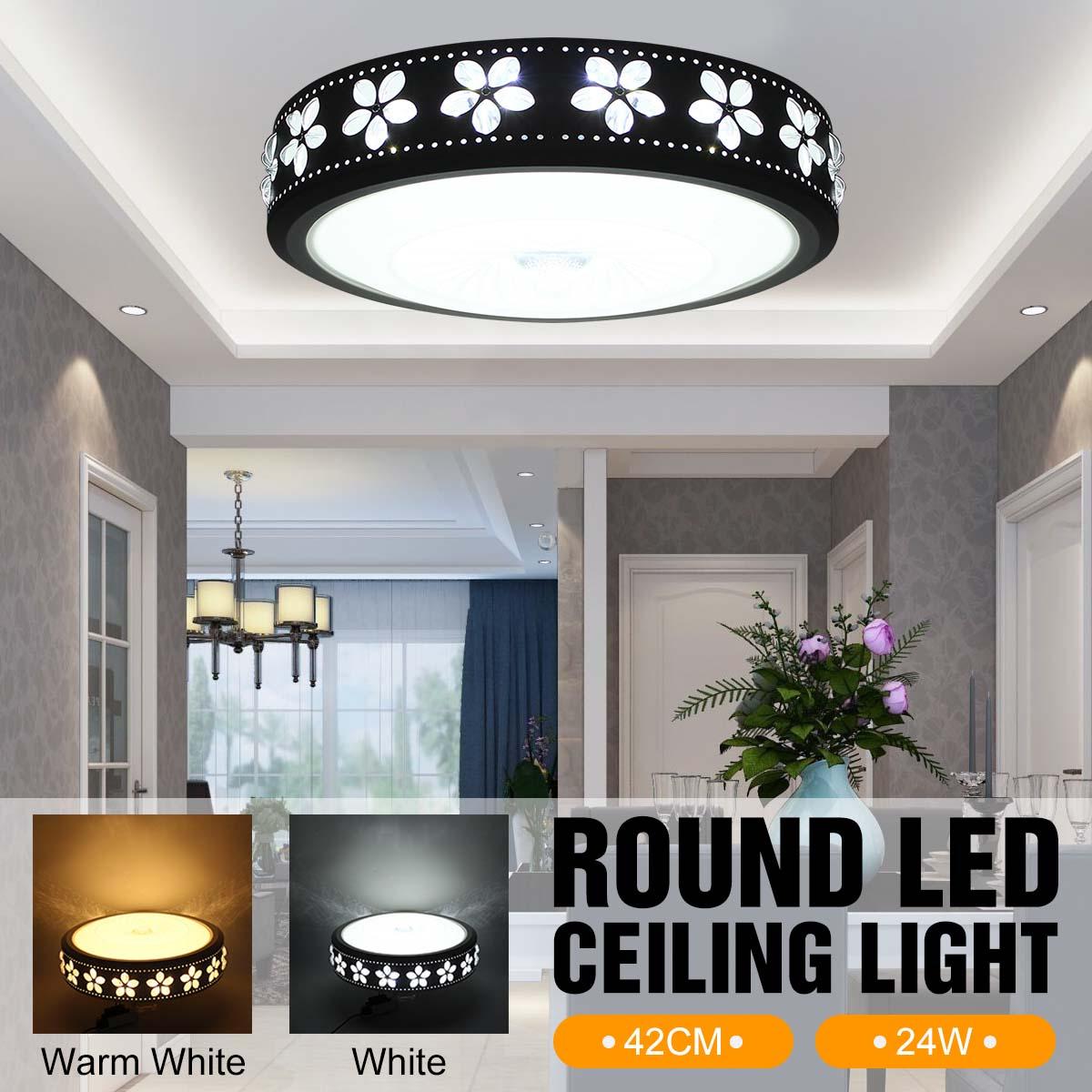 купить 100-240V 24W Surface Mounted Led Ceiling Lights Round Modern Ceiling Lamp for Living Room lamparas de techo for Bedroom Kitchen по цене 3399.88 рублей