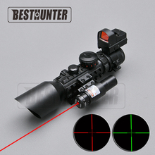 3-10X42E M9C + Holographic Sight Wide-field Telescope Tactical Optics Riflescope Hunting Scopes For Sniper Gear