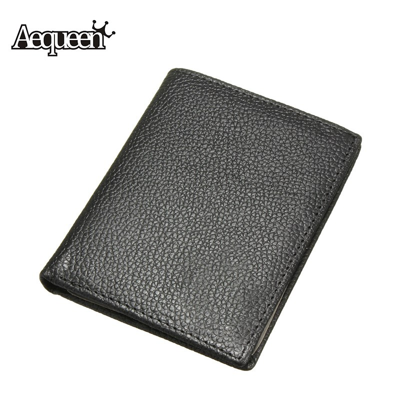 AEQUEEN Genuine Leather Men Wallets Short Purses Business ID Credit Card Holder Small Wallet Male Coin Purse Thin Mens Pouch westal 100% genuine leather men wallet credit card holder coin purse mens leather wallets with coin purse men wallets 8063