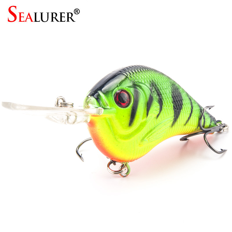 SEALURER 1PCS Fishing Lure Deep Swimming Crankbait 9.5cm 11.5g Hard Bait 5 Colors Available Wobbler Slow Floating Fishing Tackle