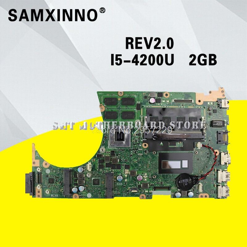 S551LB Motherboard i5-4200U-REV:2.0 For ASUS K551L S551 S551LB laptop Motherboard S551LB Mainboard S551LB Motherboard test ok sheli s551lb motherboard for asus asus k551l k551lb k551ld k551ln s551l s551lb s551ld s551ln laptop motherboard i3 4010u new