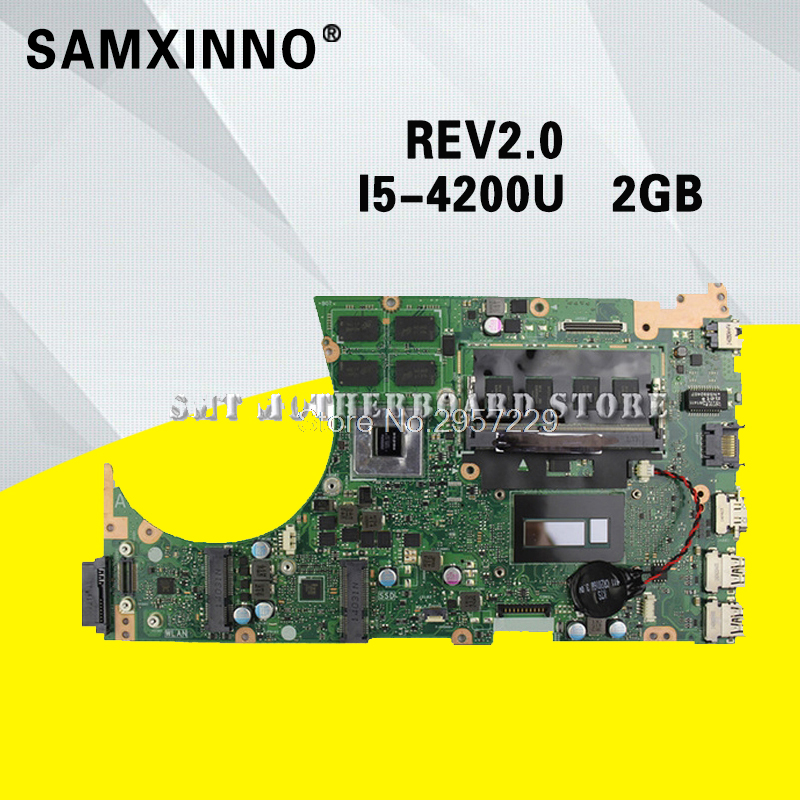 S551LB Motherboard i5-4200U-REV:2.0 For ASUS K551L S551 S551LN laptop Motherboard S551LB Mainboard S551LB Motherboard test ok for asus s551lb s551ln s551la r553l mainboard motherboard non integrated gt840m 2gb n15s gt s a2 with i7 4500 cpu sr16z tested
