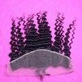 7А Класс Кружева Фасады 13x4 Бразильские Волосы Глубокая Волна Полный Шнурок фронтальная Закрытие С Волосами Младенца От Уха до Уха Шелковый Топ фронтальная