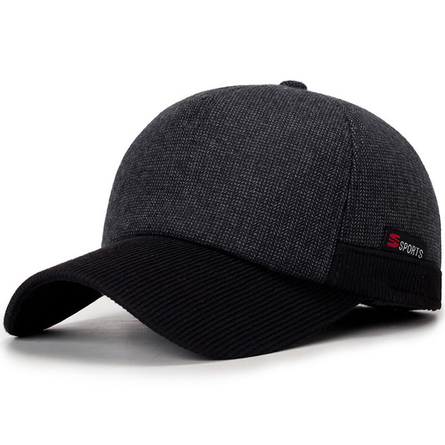 2018 Warm Winter Thickened Baseball Cap With Ears Men S Cotton Hat Snapback  Winter Hats Ear Flaps 1ee0d2b7a8e