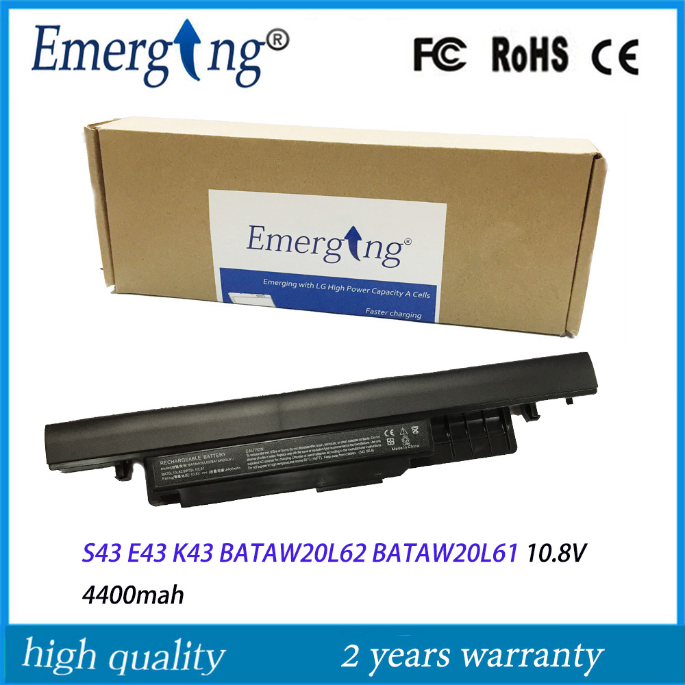 10.8V 4400MAH New Laptop Battery for BENQ S43 E43 K43 BATAW20L62 BATAW20L61 женская юбка brand new 2015 strawberry leopard 3d f e43