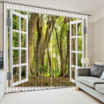 Luxury Blackout 3D Window Curtain For Living Room modern living room curtains window curtain