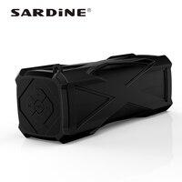 Sardine A6 Outdoor Portable Waterproof Speaker Mini Audio Receiver With Power Bank FM Radio Aux 4000mAh