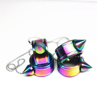 2018-self-defense-finger-ring-keychain-colorful-stainless-steel-for-women-girl-safety-outdoor-edc-tool-survival-high-quality