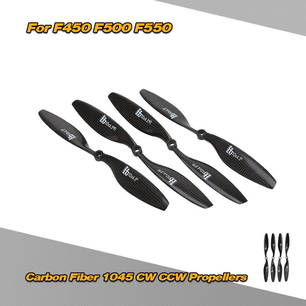 4 paire 10 x 4.5 Carbon Fiber Propeller Prop CW CCW 1045 for RC Multi-Hélicoptère