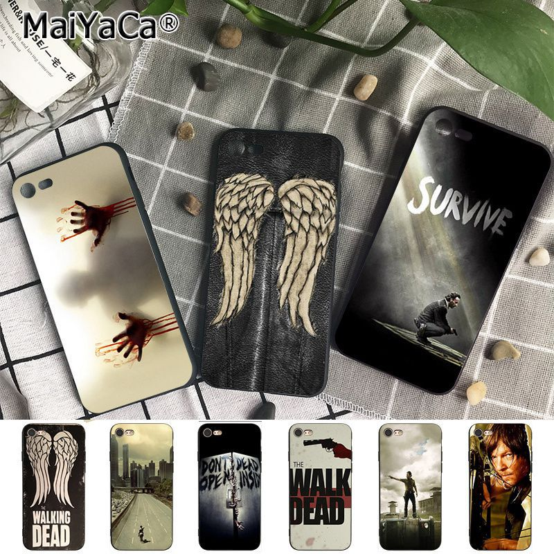 Coque The Walking Dead Fundas Phone Cases for iPhone X 8 8Plus 7