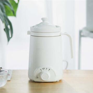 DMWD мини электрический термальный чайник керамический нагреватель воды чашка молочный котел лапша каша тушеный горшок детское питание Мультиварка чайник - Цвет: Белый