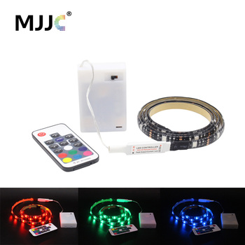 5V LED Strip Battery Operated RGB Fita SMD 5050 RF Remote Control Waterproof Tira LED Stripe Ribbon Tape Battery Powered Light battery powered remote control private parking lock