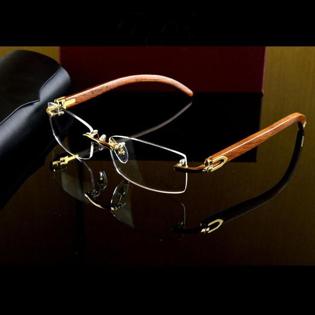 Rimless Glasses Expensive : brand quality reading glasses men rimless glasses frame ...