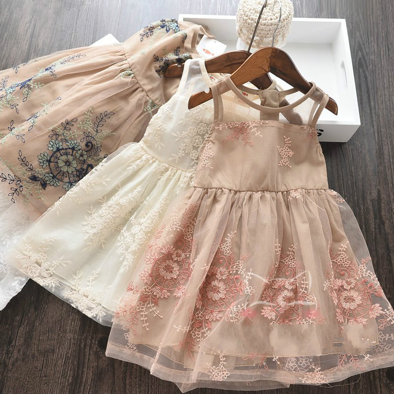 Girl s Lace Dress Spring Summer 2019 New Baby Lace Princess Dress
