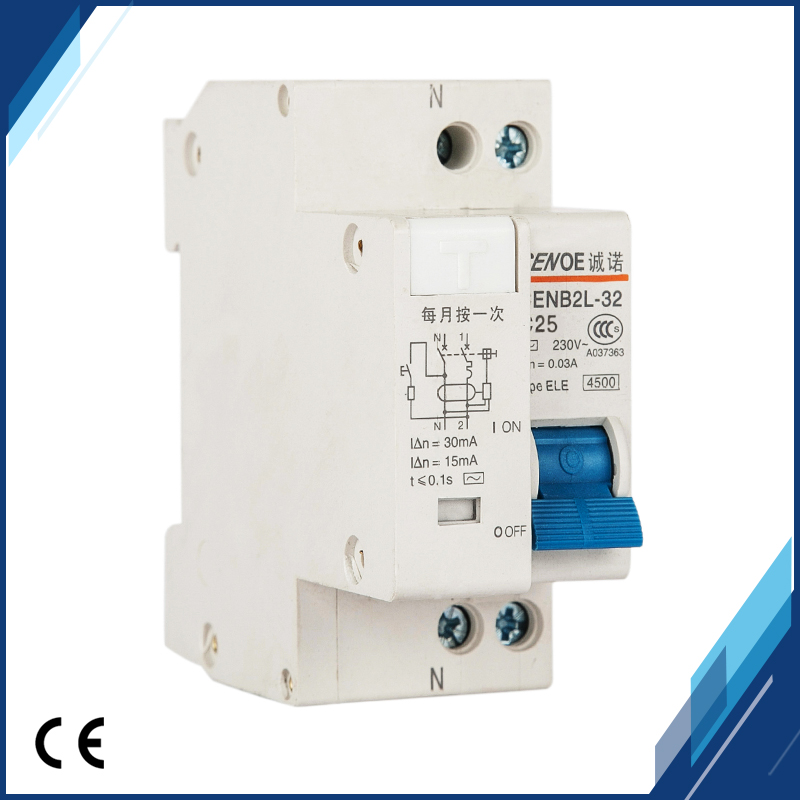 HTB1tiuulfImBKNjSZFlq6A43FXac - 2018 new arrival short circuit and Leakage protection residual current Circuit breaker DPNL 1P+N16A 20A 25A 32A 230V~ 50HZ/60H