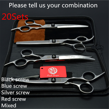 20Sets Suit 6.0'' Japan Purple Dragon Grooming-for-dog Pets Hair Scissors Cutting+Thinning Scissors