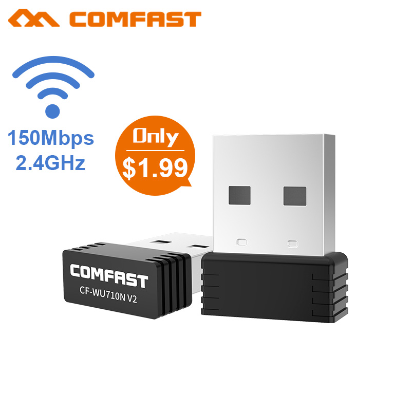Home Electronic Accessories Hearty Comfast 7500ac V2 1300mbps 2.4ghz 5.8ghz Dual Band Usb Wireless Networking Adapter