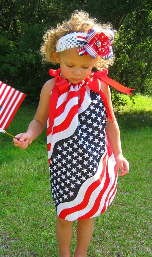 Girls Dress Baby Girls Infant Kids 4th Of July Star Dress Sundress Casual Sleeveless Kids Dresses For Girls Vestido Infantil