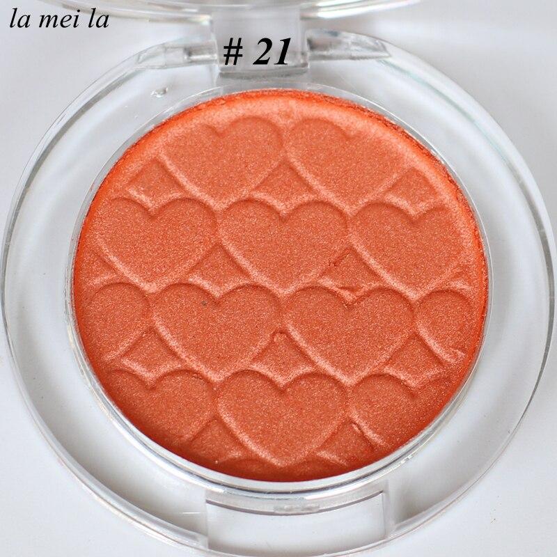 2019 Hot Sale New Pumpkin color Eye Shadow Super Shock Durable Waterproof Single color Matte Eye makeup 21 in Eye Shadow from Beauty Health
