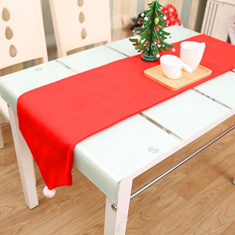 176X34 CM noël Non-tissé Table drapeau chemin de Table nappe tissu de noël fête dîner Table décor maison hôtel décoration Z