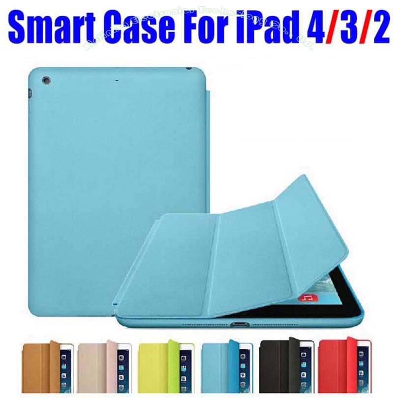 20pcs/Lot DHL Free Brand New Smart Case For Apple iPad 4/3/2 Official Fashion Ultra thin Filp Cover NO: I4001