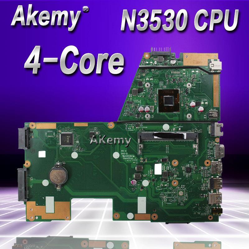 Akemy N3530 4 Core CPU X551MA Laptop motherboard for ASUS X551MA X551M X551 F551MA D550M Test