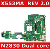 X553MA MAIN_BD. _ 0 M/N2830/COMO Para ASUS A553M X503M F503M X553MA X503M X553M F553M F553MA laptop motherboard 100% testado