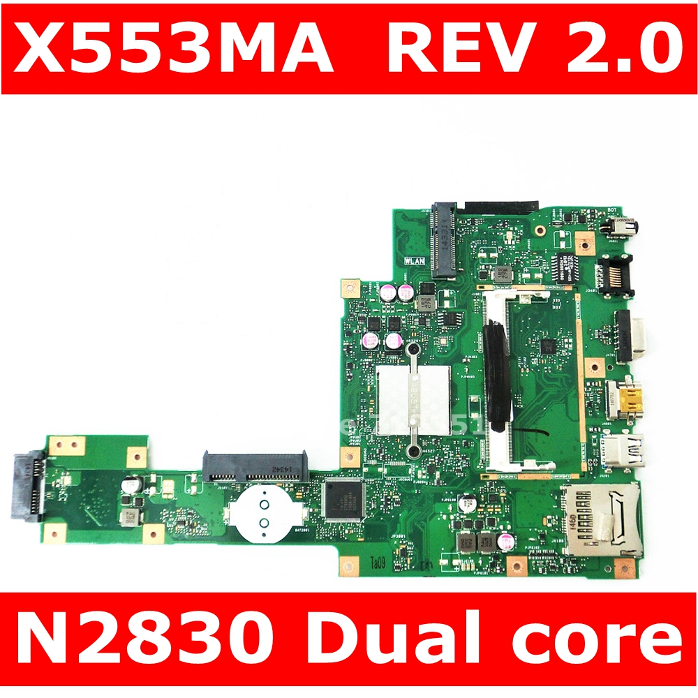 X553MA MAIN_BD._0M/N2830/AS For ASUS A553M X503M F503M X553MA X503M X553M F553M F553MA Laptop Motherboard 100% Tested
