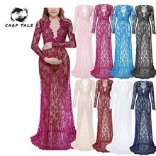 2019 Fashion Maternity Photography Props Maternity Gown Lace Maternity Dress Fancy Shooting Photo Summer Pregnant Dress Plus maternity gown cotton maternity dress maternity photography props fancy shooting photo baby shower pregnant dress