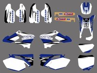 0501 NEW TEAM GRAPHICS BACKGROUNDS DECALS For Yamaha WR250F WR450F WRF250 WRF450 2005 2006 WRF 250 450 WR 250F 450F