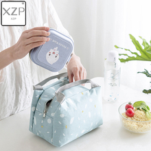 XZP Insulated Thermal Lunch Bag For Women Kids Men Cotton Food Box Picnic Milk Bottle Fresh Keep Handbag Case Pouch