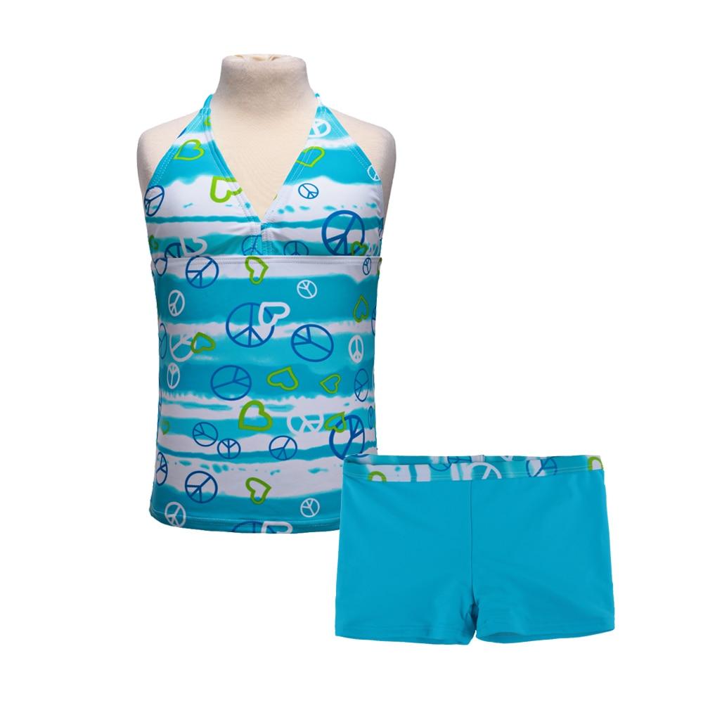 2018 2szt dziewcząt 6 kolorów strój kąpielowy bikini strój - Kostiumy - Zdjęcie 1