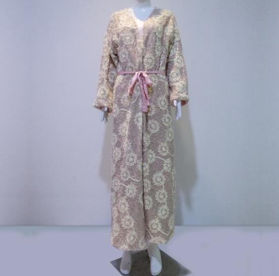 Robe Women Bathrobe Floral Nightwear Long Sleeve Female Sleepwear Elegant Lady Gowns Classical Nightgowns High quality